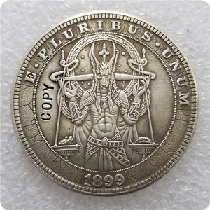 Type #24_Hobo Nickel Coin 1899-P Morgan Dollar COPY COINS-replica commemorative coins(China)