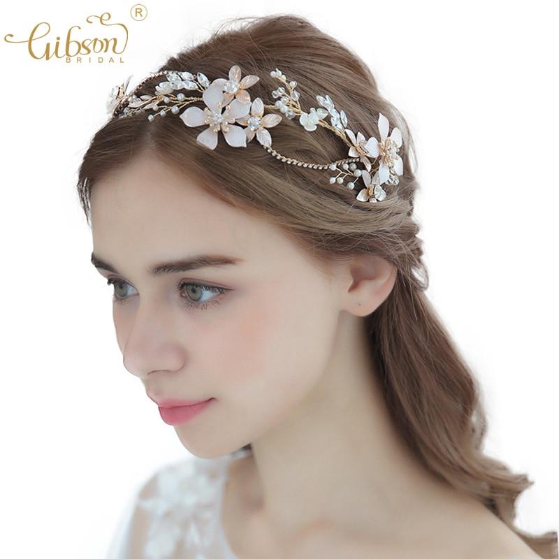 Bridal Wedding Tiara Rhinestone crystal Headpiece Forehead band headband chain