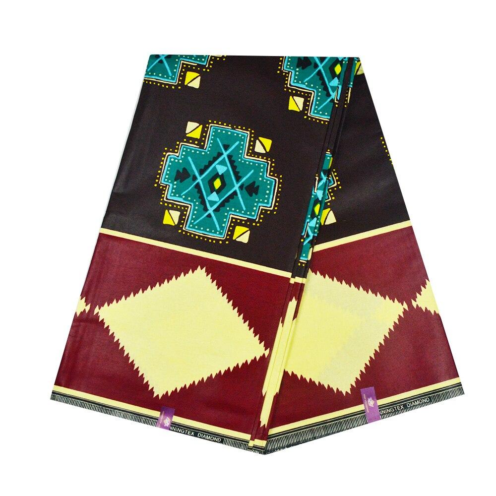 Brown African Wax Fabric For Sewing High Quality Real Dutch Print Wax 100% Cotton Ghana Ankara Nigerian Wax Material For Men