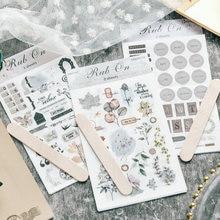 REIBEN AUF Anlage Zahlen Aufkleber Scrapbooking Junk Journal Handwerk Transfer Aufkleber DIY Fotoalben Dekorative