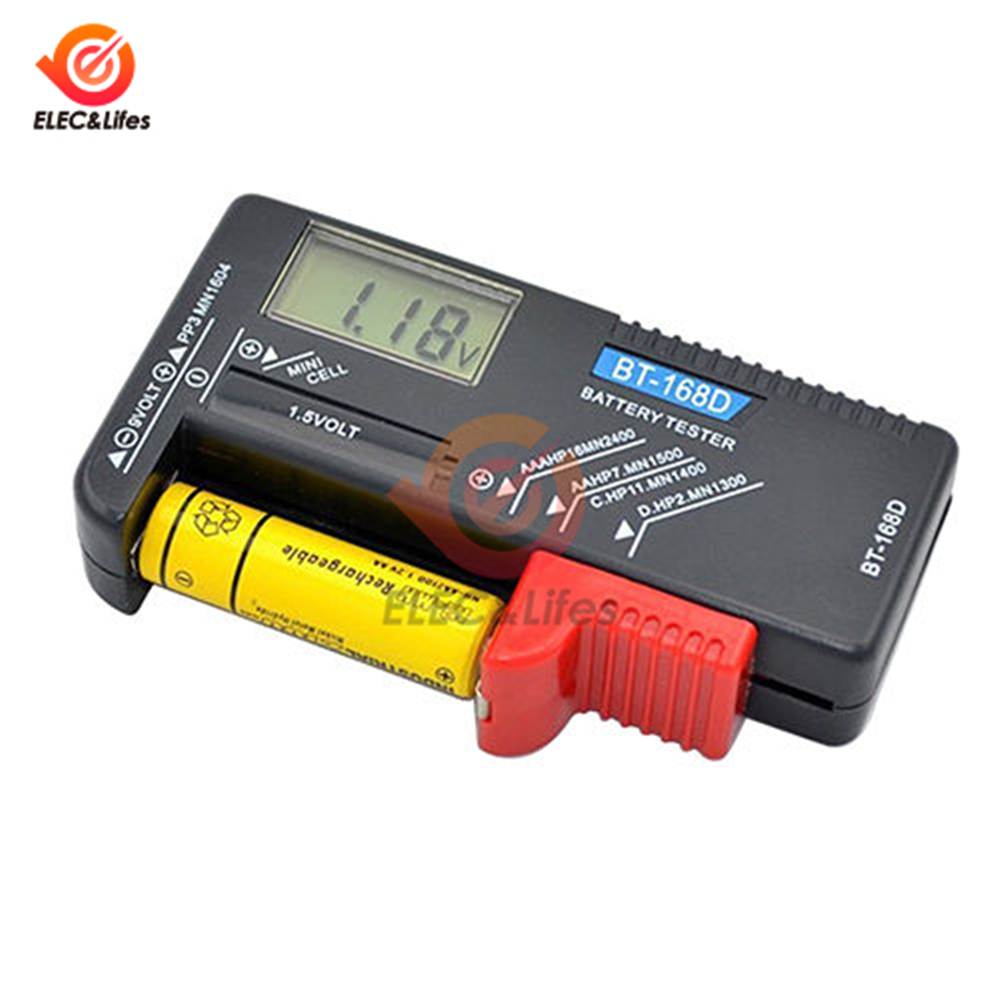 BT-168D цифровой аккумулятор Емкость диагностический инструмент тестер батареи ЖК-дисплей проверка AAA AA кнопки сотового Универсальный тестер ...