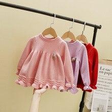 Детский свитер в Корейском стиле; коллекция года; сезон осень-зима; детский пуловер; рубашка для девочек; свитер для девочек; Детский свитер