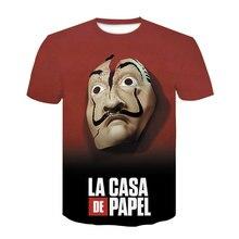 La Casa De Papel 3D Print T-shirt Women/Men Short Sleeve Streetwear Shirts Money Heist The Paper House Fashion Casual Tee Tops