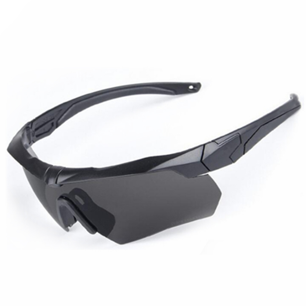 3 Lens Polarized Cycling Sun Glasses Outdoor Shooting Games Goggles Sports Bicycle Glasses Men Women Bike Sunglasses