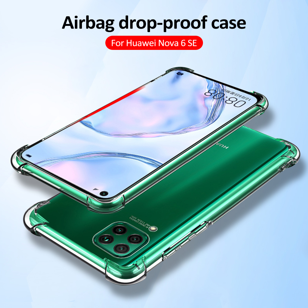 Airbag Dropproof Case For Huawei P40 Lite Nova 7i 7se 7 Pro 5G 6 6 Se Silicone Soft TPU Protective Case For Honor 30 Pro V30 X10(China)