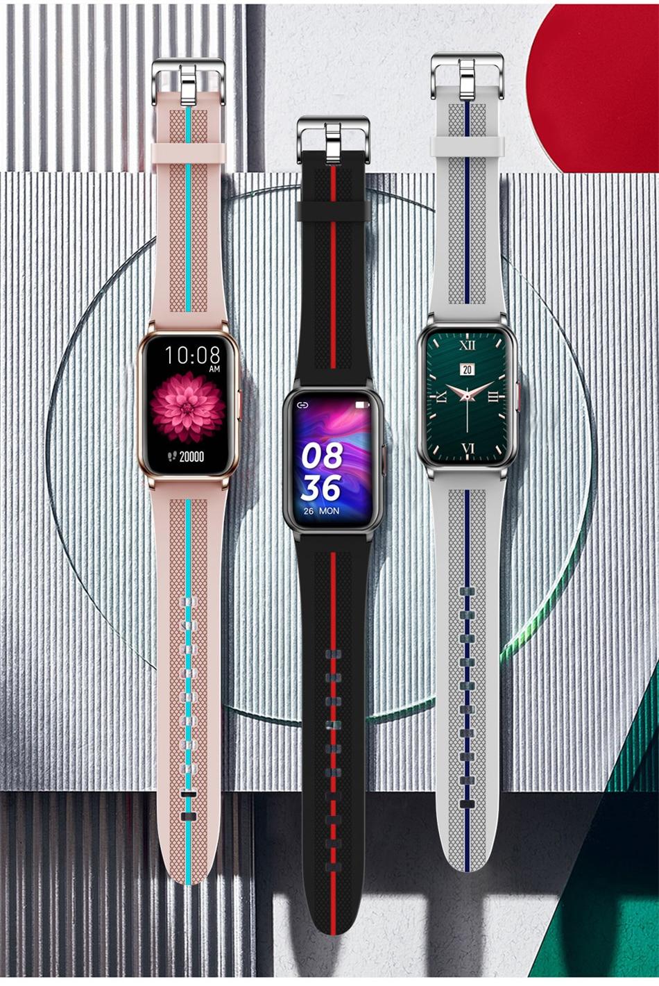 H2b09198e6e2c43afa1a17120e016bb0aB New Smart Band Watch Fitness Tracker Bracelet Waterproof Smartwatch Heart Rate Monitor Blood Oxygen LED Screen For Huawei Xiaomi