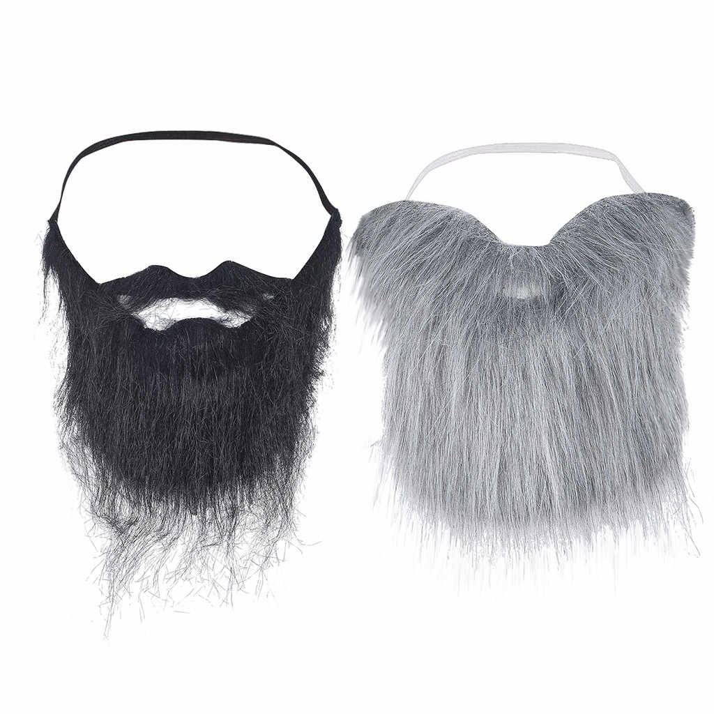 2019 Halloween 100% Brand Mask Fancy Ball Funny Costume Party Male Man Halloween Beard Facial Hair Game Moustache Fake Mustache