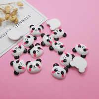 Nowy dodatek Slime Charms dla Slime Supplies Filler DIY polimer śliczne Panda akcesoria zabawki Lizun Model narzędzie dla dzieci zabawki prezent