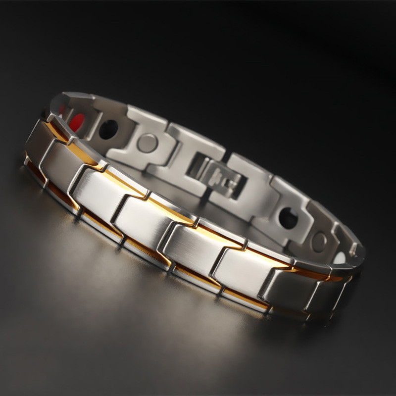 Магнитный браслет из нержавеющей стали, 4 цвета