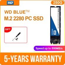 Western Digital WD interno SATA m2 SSD 250GB 500GB NGFF unidad de estado sólido 1TB 2TB interno m2 2280 ssd para ordenador portátil