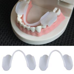 2Pcs Silicone Teeth Grinding Dental Night Protector Guard Gum Shield Mouth Teeth Trays Anti Snoring Sleep Bruxism Dental Device(China)