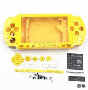 Image 5 - Darmowa wysyłka 6 kolorów dla PSP 1000 PSP1000 pełna obudowa obudowa na telefon zestawy przycisków zamiennych