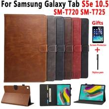 цена на Premium Leather Case for Samsung Galaxy Tab S5E 10.5 SM-T720 SM-T725 T720 Cover Smart Case for Samsung Tab S5E 10.5 +Film+Pen