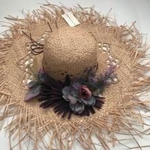 ZJBECHAHMU Fashion New Solid Floral Vintage Straw Sun Hats For Women Girl Summer Cap Shade beach hat holiday outdoor folding hat хей л от сердца к сердцу комплект из 5 книг