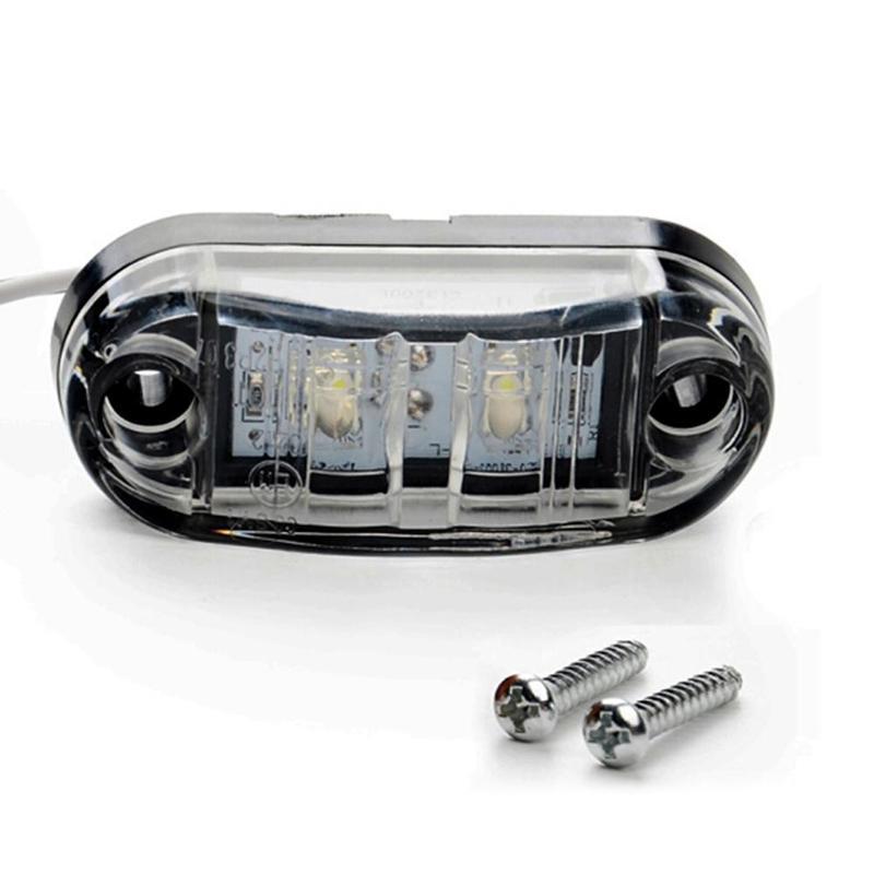 12V / 24V LED Side Marker Lights Car External Lights Warning Tail Light Auto Trailer Truck Lorry Lamps White Color 1pc