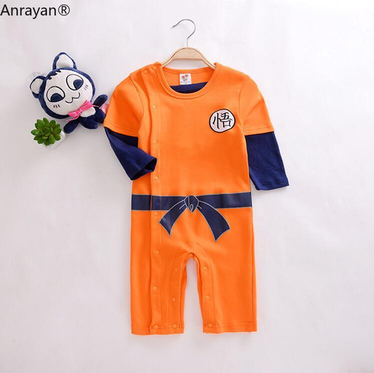 Baby Rompers Kids Cloth Newborn Baby Boys Clothes SON GOKU Toddler Jumpsuit Bebes Halloween Costumes For Baby Boy Girl Clothing | Happy Baby Mama