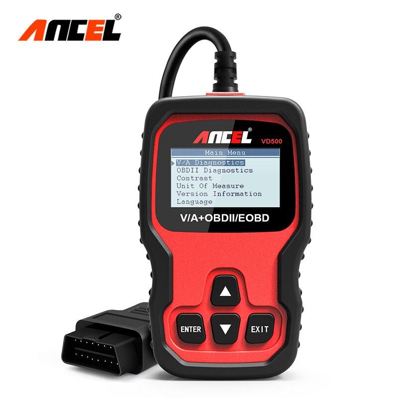 Диагностический сканер Ancel VD500 Obd2, автомобильный диагностический инструмент для авто, с подушками безопасности, ABS, EPB, Obd 2, для VAG, VW, Audi, Skoda