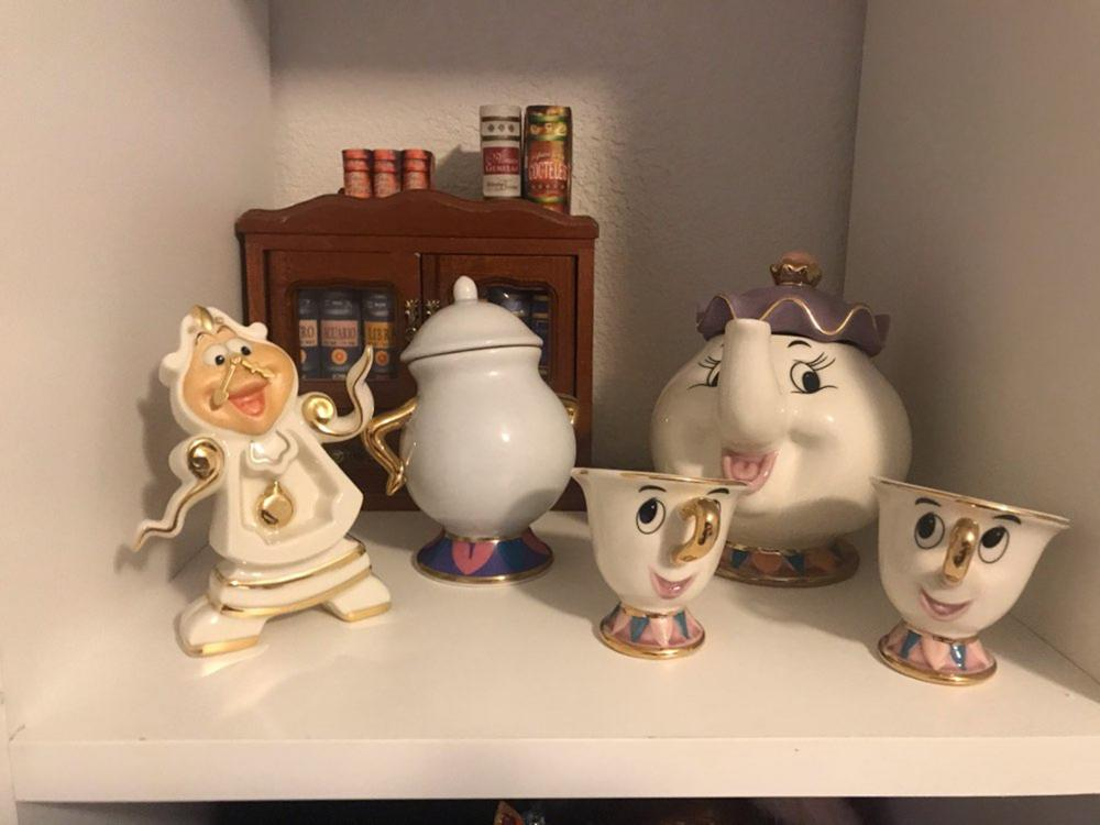 Cartoon Beauty And The Beast Tea Pot Set Teapot Mrs Potts Chip Cogsworth Tea Pot Cup Sugar Bowl Ceramic Creative Gift Fast Post|Coffeeware Sets| |  - title=