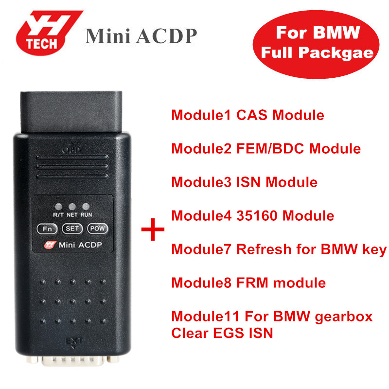 Yanhua Mini ACDP Programming Master For BMW Full Package Total 7 Authorizations Module 1/2/3/4/7/8/11