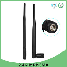 20pcs 2.4g WiFi Antenna 5dBi Aerial RP-SMA Connector 2.4ghz antena wi fi antenne For PCI Card USB Wireless Router Wifi Booster модем zte mf79 usb wi fi router черный