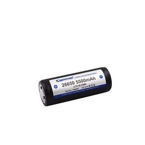 Image 2 - 2 pièces KeepPower 26650 batterie 5500mAh li ion protégé rechargeable 3.7V batterie P2655C livraison directe dorigine batteria