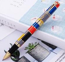 Herói 767 rolo bola caneta com guarnição dourada moda tinta colorida caneta com recarga suave ótimo para presente graduado escritório de negócios