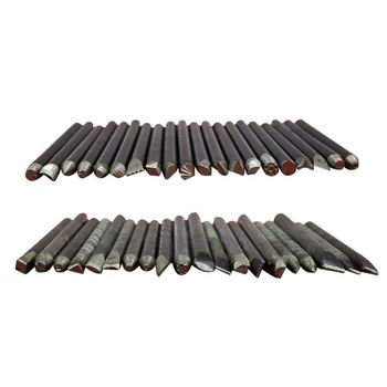 20 Pcs Steel Punches Flower Punch Stamp Set Jewelry Metal Craft Stamping Tools T4MD 3 8 10mm letter steel stamp die punch set a z 27 pcs part codes