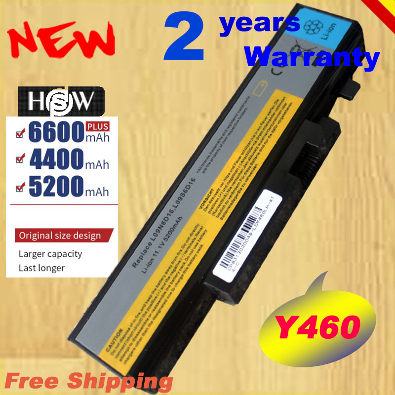 HSW New 5200mah Laptop battery for <font><b>Lenovo</b></font> <font><b>B560</b></font> V560 Y560 Y460 battery L09N6D16 laptop battery fast shipping image