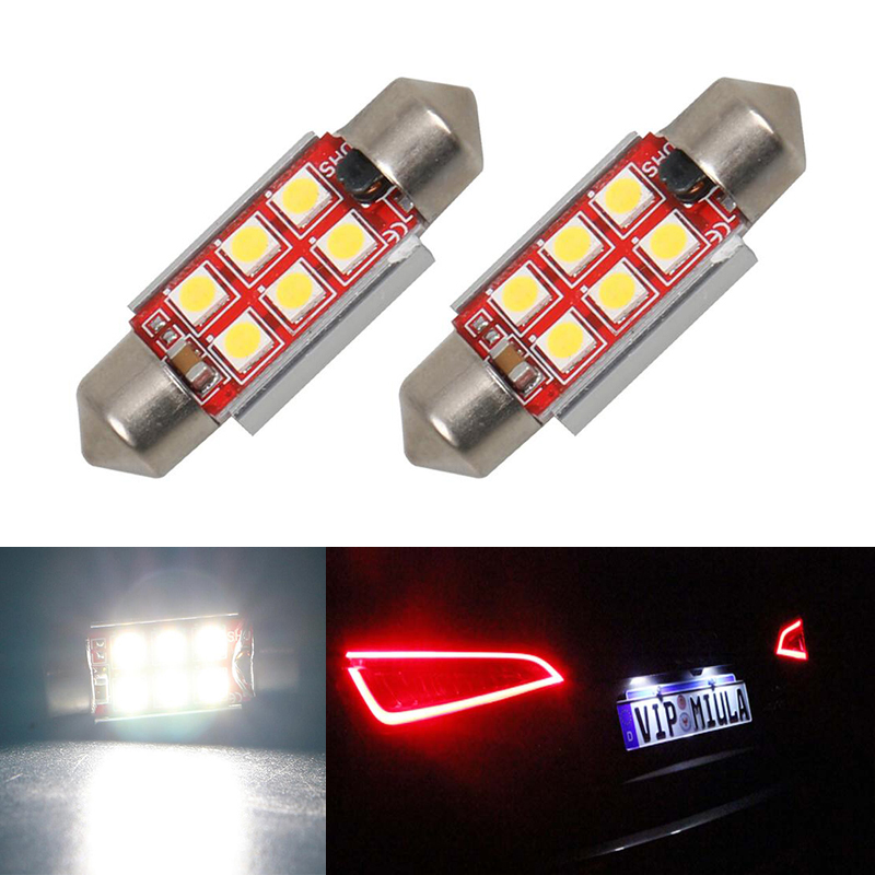 2 LED Bulb Door Courtesy Shadow Welcome Light Lamp For Mercedes Benz CLK CLA CLS