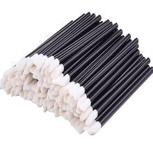1000pcs חד פעמי שפתיים מברשת סט שפתון גלוס שרביטים מברשת ניקוי ריס גבות איפור אפליקטורים כלים שחור