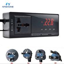 Nashone Aquarium chauffage AC-112 sortie Thermostat 220V régulateur de température numérique Aquarium Thermostat avec capteur étanche