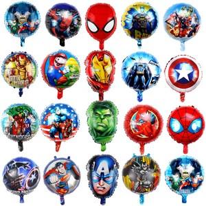 10 pz/lotto 18inch hero palloncini Avengers Spiderman Batman Supreman foil palloncino Per Bambini forniture festa di compleanno del bambino giocattoli ballon(China)