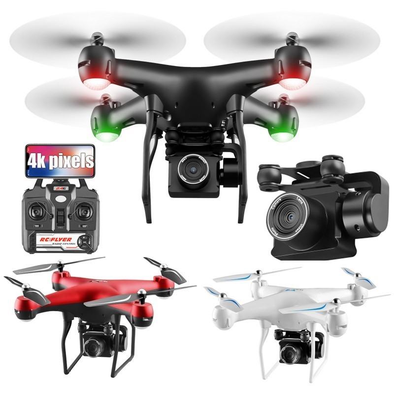 Drone 4K avec caméra rotation quadrirotor HD avec 1080P Wifi FPV Drone professionnel vol de Drone 25 Minutes RC hélicoptère Drohne