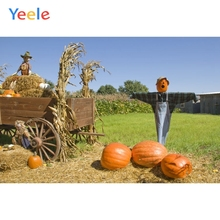 Autumn Farm Backdrop Countryside Pumpkin Cart Hay Baby Shower Children Birthday Background Photo studio Photocall Photophone allenjoy photography backdrop car grass red countryside baby shower children background photo studio photocall