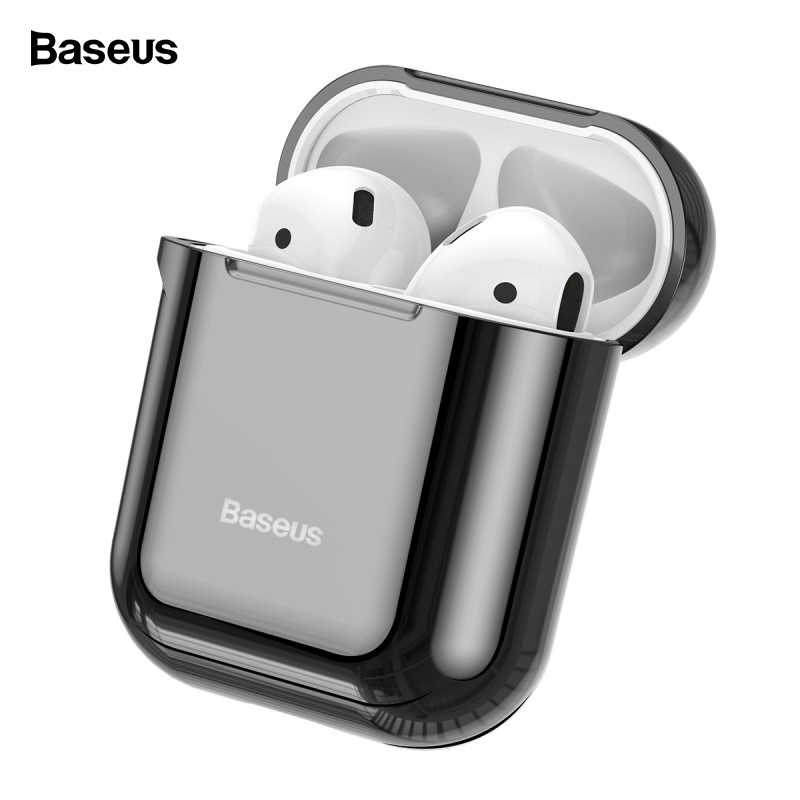 Baseus Earphone Case For AirPods Shining Hook Case For AirPods 2 1 Anti-Fall Earphone Protective Cover For Apple Air Pods Coques