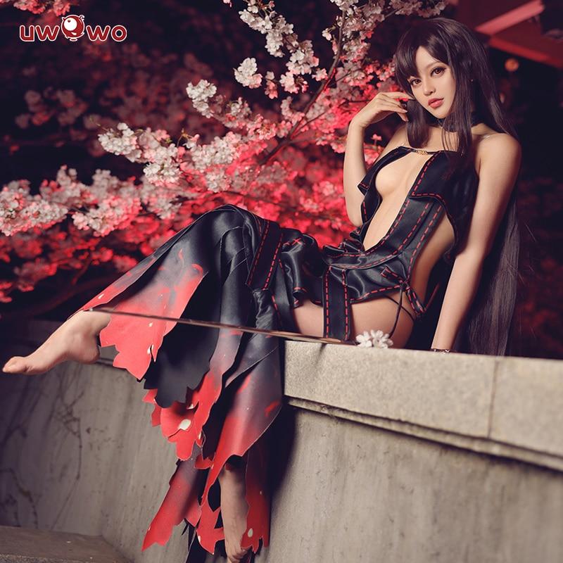 UWOWO Game FGO Yu Miaoyi Stage3 Cosplay Costume Fate/Grand Order Women Sexy Dress Fate Servant Costume Hallowen