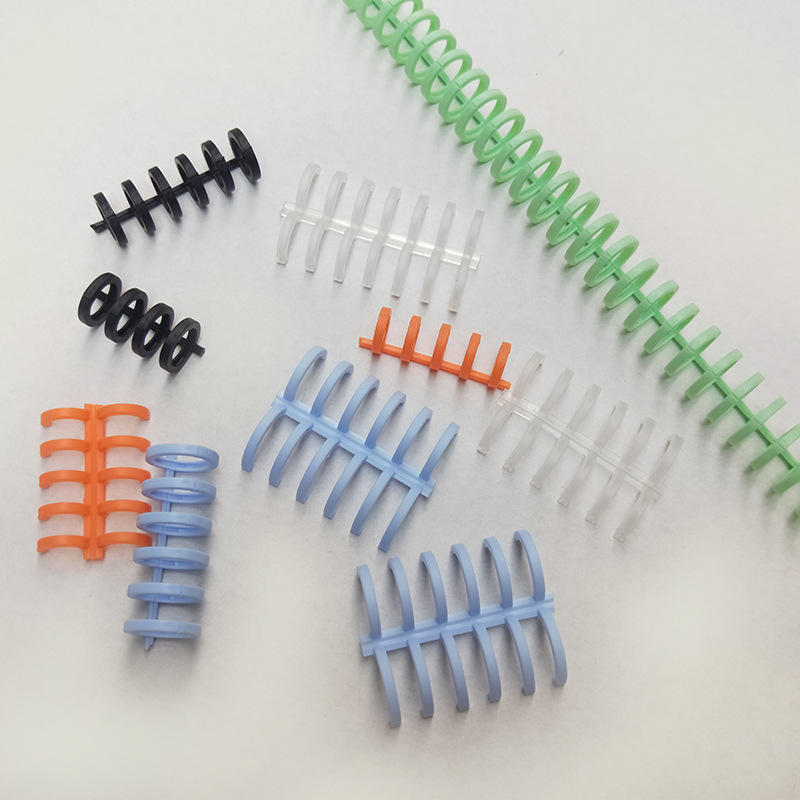 13mm A4 Loose-leaf Ring Binding Clip 30 Holes Loose-leaf Binding Strip Plastic  Removable Loose-leaf Buckle B5 Binding Rings