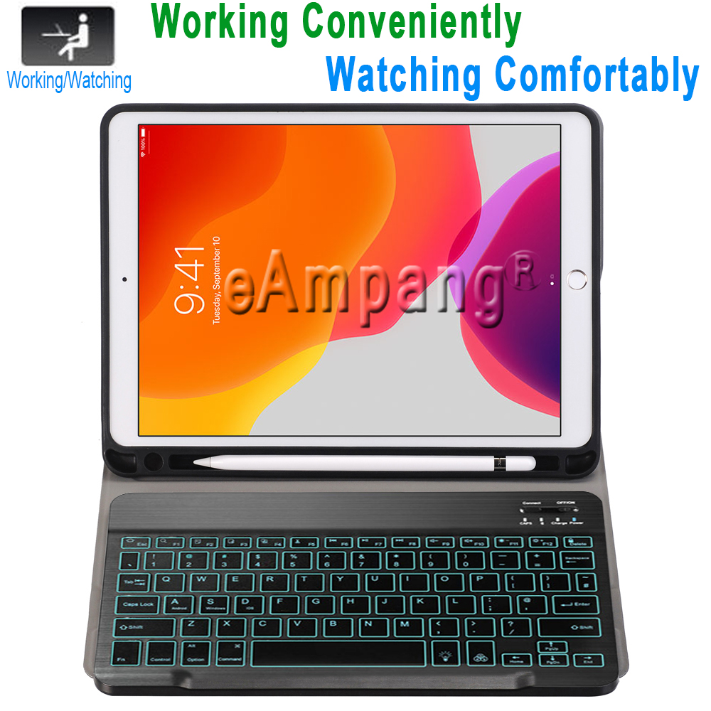 Backlit Keyboard Case for iPad 10 2 2019 7 7th 8th Generation with Pen Slot A2197