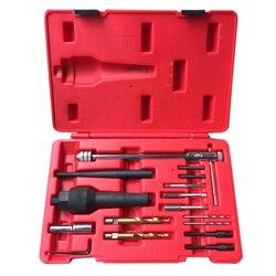 Danificado glow plug removedor de remoção rosca reparação broca chave spark plug gap extrator ferramenta kit 8mm 10mm sk1095
