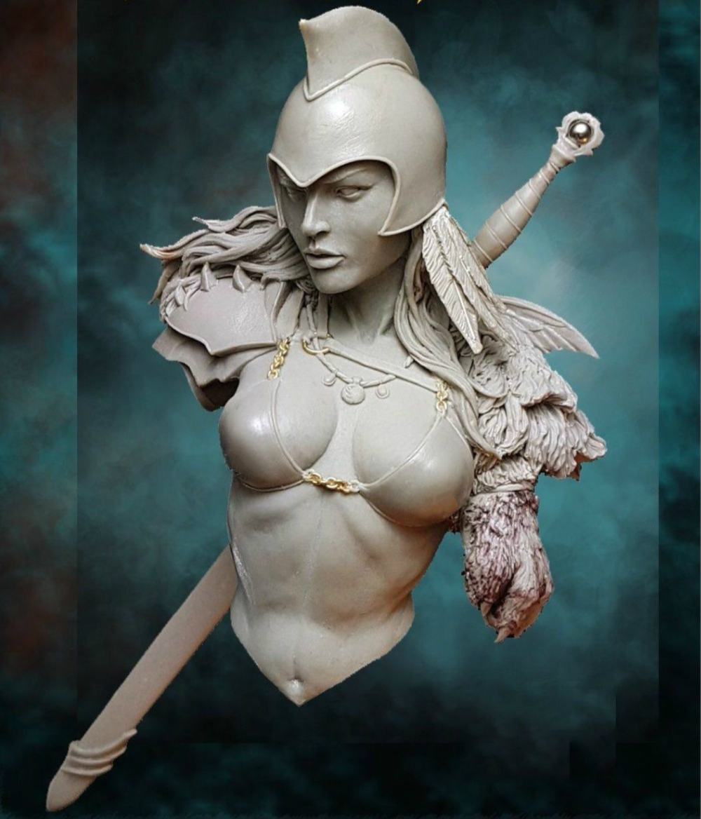 1/10 Resin Bust Model Kit Female Warrior 308