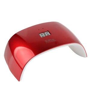 SUN 9X светодиодная УФ-лампа для ногтей 18 Вт быстрая сушилка портативная беспроводная быстрая сушка красная светодиодная лампа для ногтей пер...