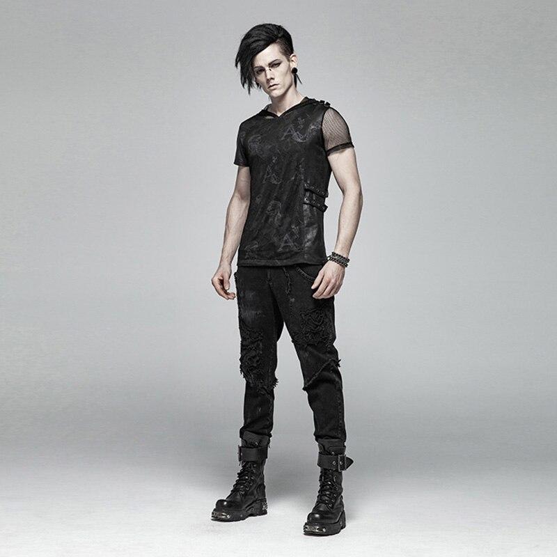 Модные мужские длинные брюки в стиле панк рок с кожаной поясной сумкой в стиле стимпанк, винтажные брюки на Хэллоуин, повседневные мужские м... - 4