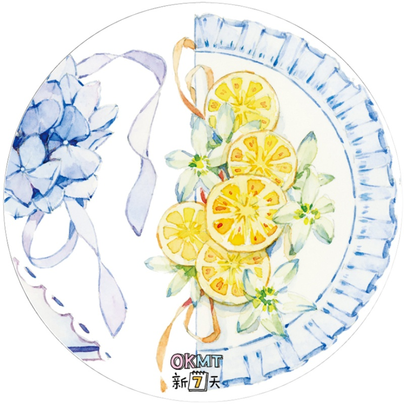 Journal Washi Tape Sticker Blue Lace Pet Special Oil
