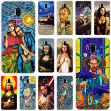 Mona Lisa Van gogh สำหรับ LG G5 G6 Mini G7 G8 G8S V20 V30 V40 V50 ThinQ Q6 q7 Q8 Q9 Q60 W10 W30 Aristo X Power 2 3 ฝาครอบ(China)