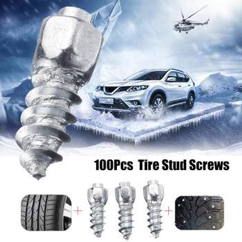 Novo 100 pces 12mm pneu parafusos de carboneto neve picos anti-deslizamento anti-gelo para carro/suv/atv/utv com ferramenta de instalação parafuso prisioneiro do pneu do carro