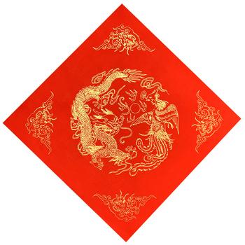 Chiński wiosenny festiwal Couplets czerwony Xuan papier kaligrafia papier 200 arkuszy chiński tradycyjny czerwony Xuan papier Rijstpapier tanie i dobre opinie CN (pochodzenie)