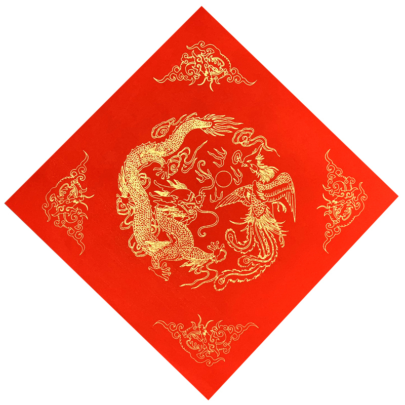 Chinese Spring Festival Couplets Red Xuan Paper Calligraphy Paper 200sheets Chinese Traddtional Red Xuan Paper Rijstpapier
