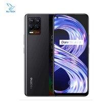 "Global realme 8 6GB 128GB Mobile Phone 64MP Quad Camera 5000mAh 30W Fast Charger 6.4"" Super AMOLED Helio G95 3-card Slot OTA NFC 2"