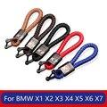 Кожаный Автомобильный брелок для ключей для bmw x1 x3 x4 x5 x6 x7 e84 f48 f25 e83 f26 e53 e70 f16 e71 f49 f39 f15 f85 X2