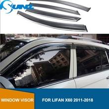 Window visor For Lifan x60 2011 2012 2013 2014 2015 2016 2017 2018 Windows side Sun Rain Protection Shield auto accessories SUNZ